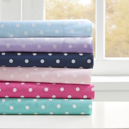 Home Essence Teen Polka Dot 180 Thread Count Cotton Sheet Set