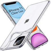 Crystal Clear iPhone 11 Case, Soft Silicone TPU Thin Cover Slim Gel Phone Cover Case for iPhone 11 inch (2019), Crystal Clear