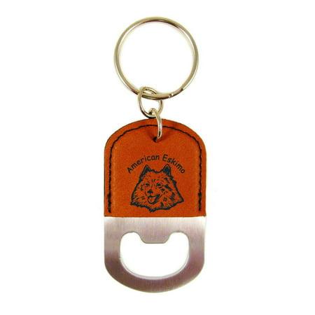American Eskimo Head Bottle Opener Keychain K1231