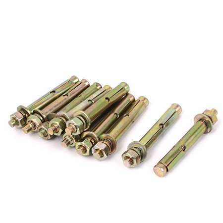 Uxcell 8mmx60mm Hex Nut Washer Concrete Sleeve Anchors Expansion Bolts Screws - Anchor Loose Bolt