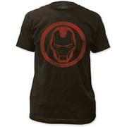 Iron Man Men's Distressed Icon Slim Fit T-shirt XX-Large Coal