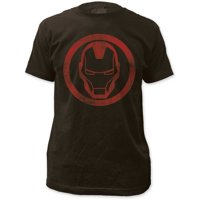 Hawkeye - Mens Iron Man Distressed Icon Fitted Jersey T-Shirt