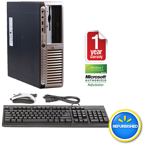 Refurbished HP DX7200 Black Desktop PC with Intel Pentium 4 Processor, 2GB Memory, 80GB Hard Drive and Windows 7 Home Premium 32-Bit (Monitor Not Included)