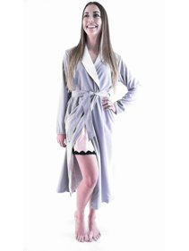Gilligan   O Malley Mesa Gray Long Spa Bath Robe Womens size ... bbb548d96