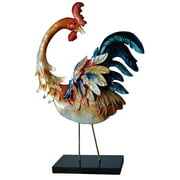 Standing Rooster with Blue Tail