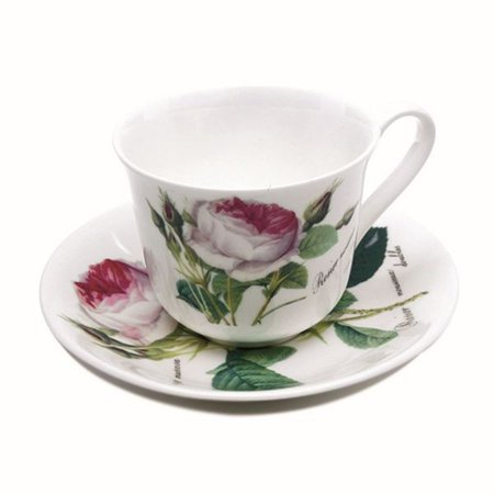 Roy Kirkham Teacup and Saucer (230 ml) Set of 2 - Redoute Rose ()