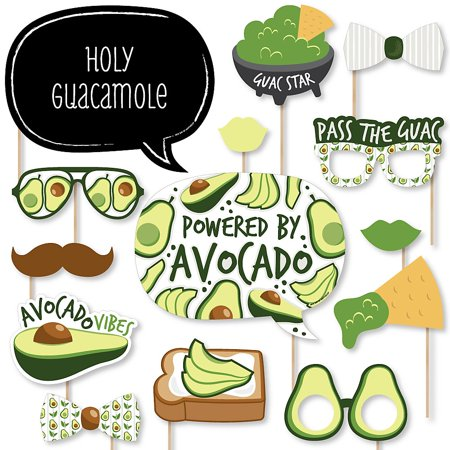 Hello Avocado - Fiesta Party Photo Booth Props Kit - 20 Count