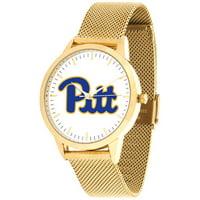 Suntime ST-CO3-PIP-STATEM-G Pittsburgh Panthers Mesh Statement Watch - Gold Band