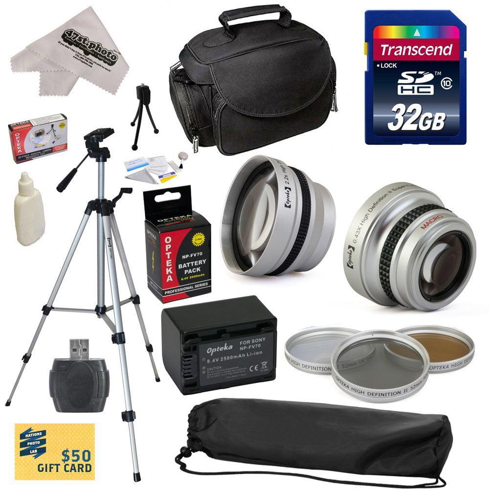 Ultimate Accessory Kit for Sony PJ30V PJ50V PJ580V XR150 ...