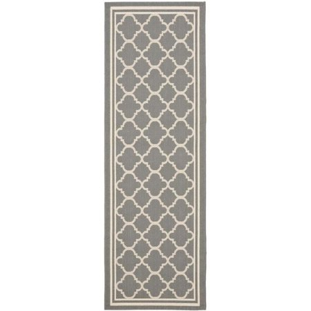 "Hawthorne Collection Anthracite Indoor Outdoor Rug - Runner 2'3"" x 8' - image 1 of 1"