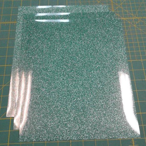 "Jade Siser Glitter Three (3) 10""x12"" Sheets of Iron-on Heat Transfer Vinyl Sheets"