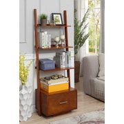 Convenience Concepts American Heritage Bookshelf Ladder with Drawer