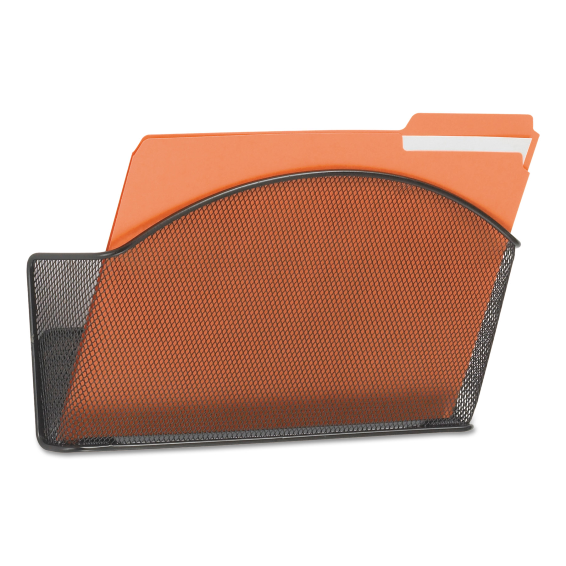 Safco Onyx Steel Wall Pocket, Letter, Black, 12 x 3 x 9