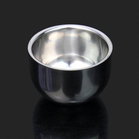 Wowlife New Shinning Double Layer Stainless Steel Men's Shaving Mug Bowl Cup (7.5cm5.2cm) - image 2 of 3