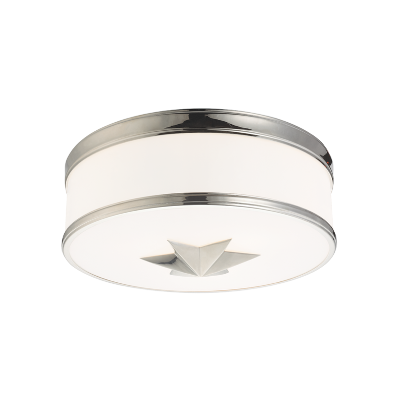 Hudson Valley Polished Nickel 3 Light Flush MountPolished Nickel 3 Light Flush Mount