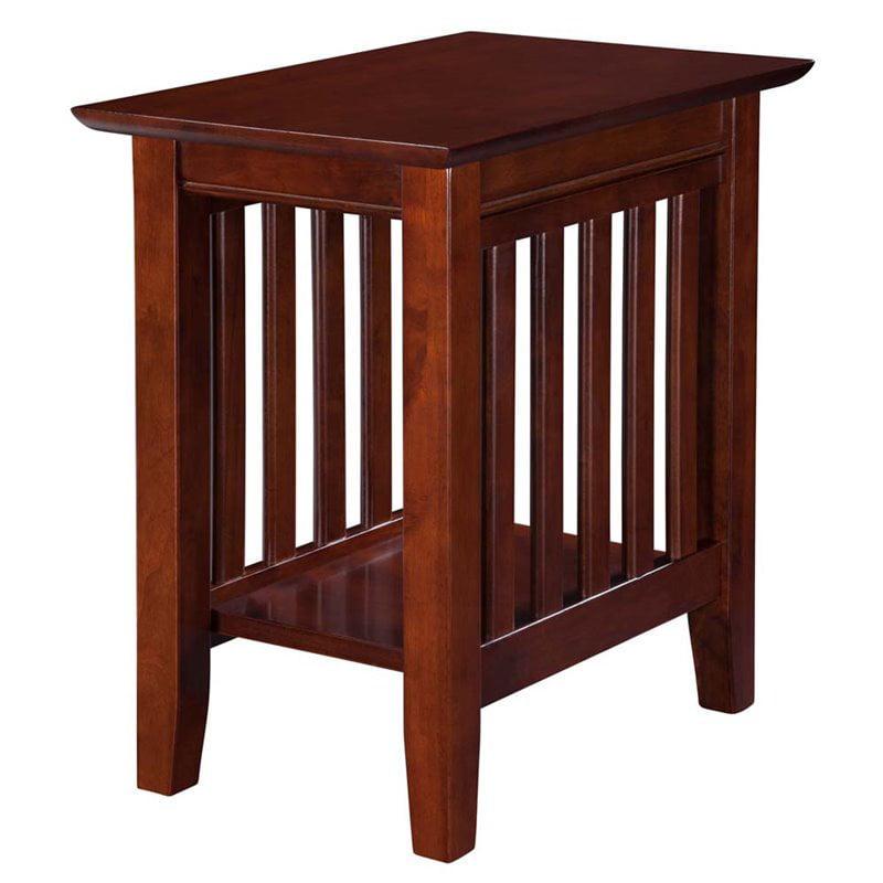 Atlantic Furniture Newberry Rectangular End Table in Walnut