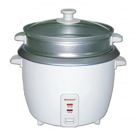 4 Cup - 0.8 Liter - Rice Cooker with Steamer - White Body