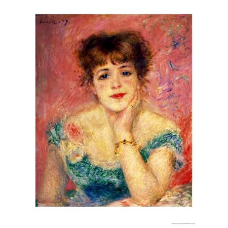 - Portrait of the Actress Jeanne Samary, 1877 (Study)   By Pierre-Auguste Renoir