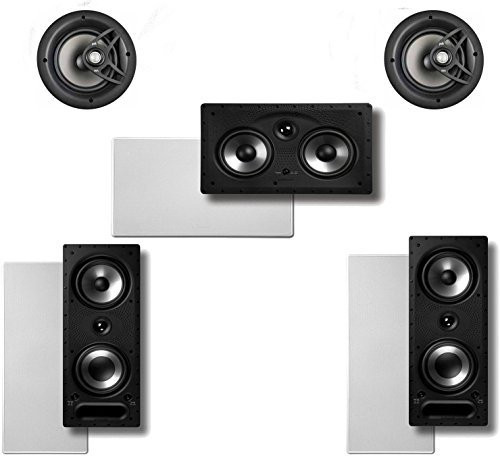 Polk Audio Vanishing 5.0 High Performance In-Wall   In-Ceiling Speaker System (2-265RT, 2-V60 & 1-255CRT) by Polk Audio