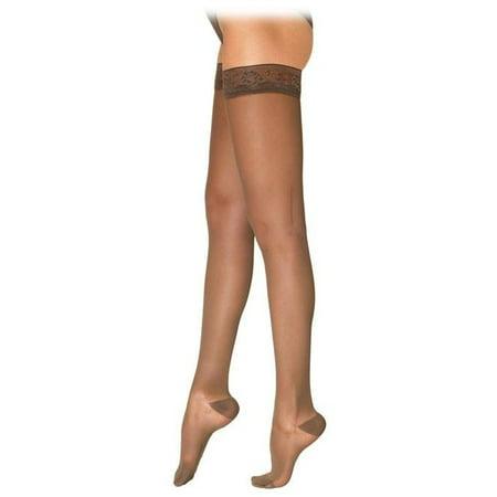 de76136bb SIGVARIS - Sigvaris 781 EverSheer Closed Toe Thigh Highs w  Grip Top -  15-20 mmHg Short - Walmart.com