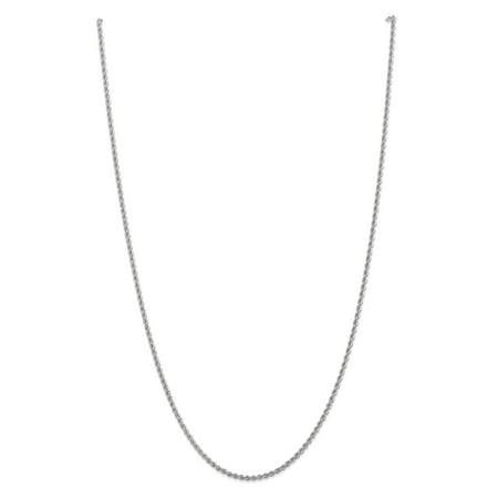 Primal Gold 14 Karat White Gold 2.25mm Regular Rope Chain