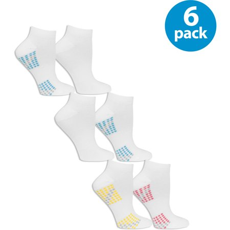 Fruit Of The Loom Womens Value Pack Low Cut Socks  6 Pairs