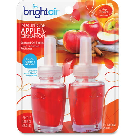 Bright Air, BRI900255CT, Scented Oil Warmer Air Freshener Refill, 12 / Carton, Red