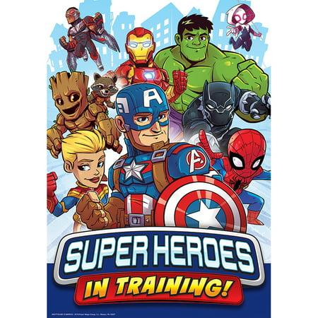 MARVEL SUPER HERO TRNG POSTER 13X19 - Vintage Superhero Posters