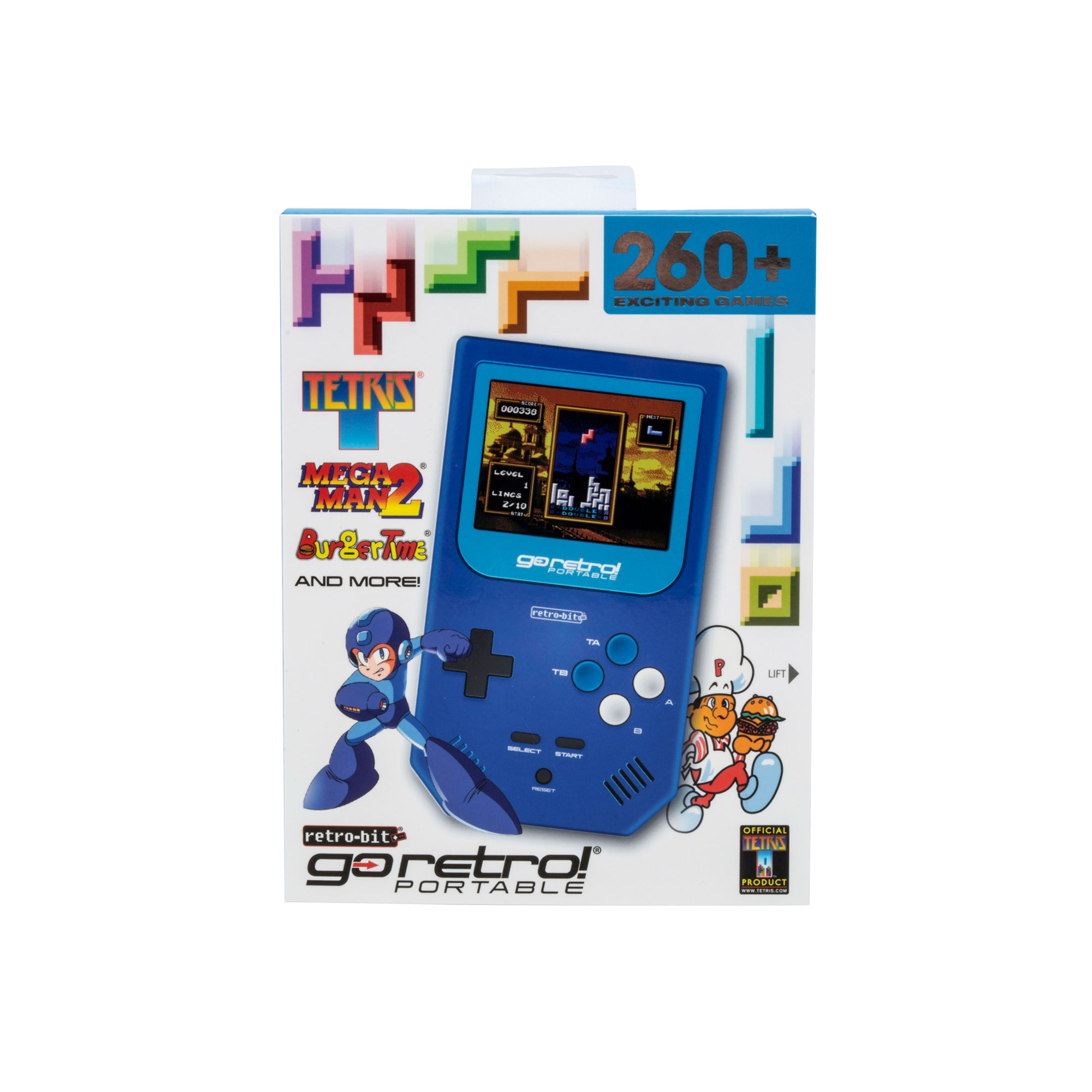 Retro-Bit Go Retro Portable, Blue, RB-PP-9929