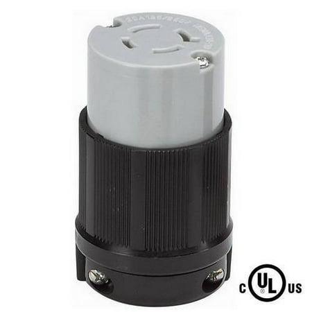NEMA L14 20 Grounding Locking Connector 20A 125 250V AC 3 Pole 4 Wire
