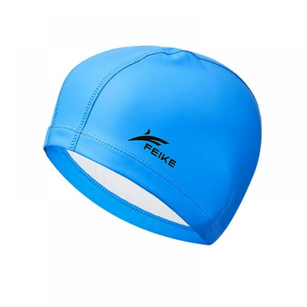 Women Men Waterproof Swimming Cap Ear Protection Fitness Coating Hat GYM Beach