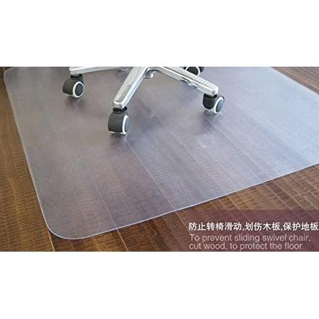 PVC Chair Mat for Hard Floors 36 X 48 Inches, 2 mm Thick Rectangular Thick Chair Mat