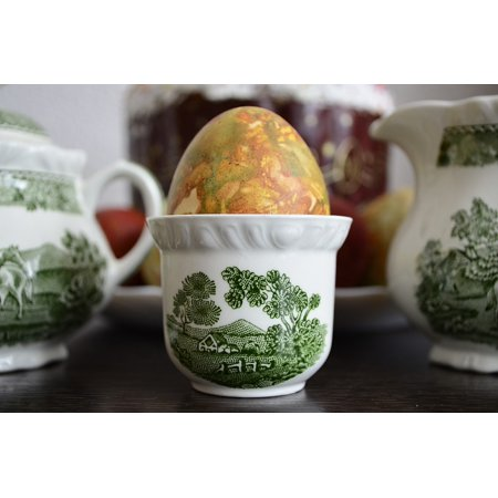 - LAMINATED POSTER English Tableware Traditional Porcelain Green Egg Poster Print 24 x 36