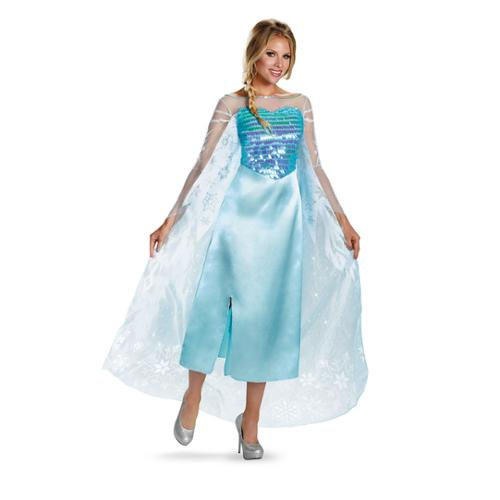 Frozen Disney Womens Elsa Deluxe Costume