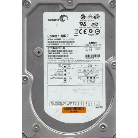 ST3146707LC, 3KS, AMKSPR, PN 9X2006-180, FW 0002, Seagate 146GB SCSI 3.5 Hard Drive 80pin Scsi Internal Hard Drive