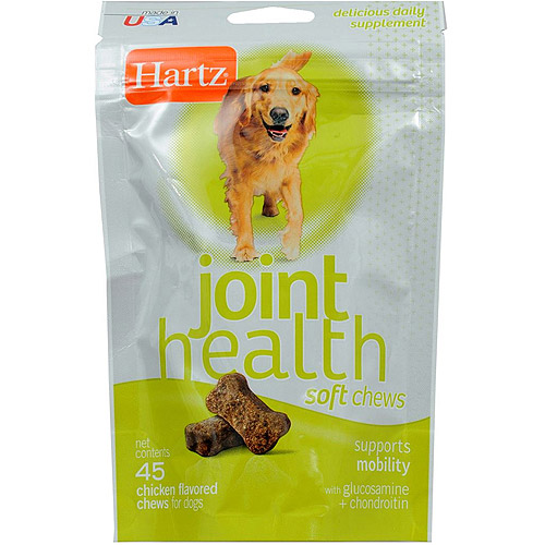 Hartz 14727 Chicken Flavor Joint Health Soft Chews for Dogs, 45-Count