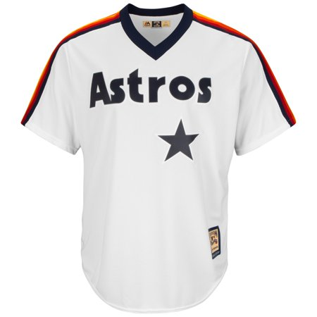 Jeff Bagwell Houston Astros Cooperstown Cool Base Replica White Jersey by