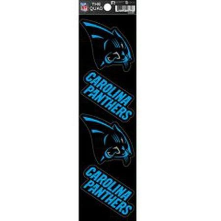 Carolina Panthers Quad Decal Set
