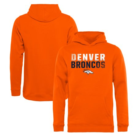 new product fdfce bcaf1 Denver Broncos NFL Pro Line by Fanatics Branded Youth Iconic Collection  Fade Out Pullover Hoodie - Orange