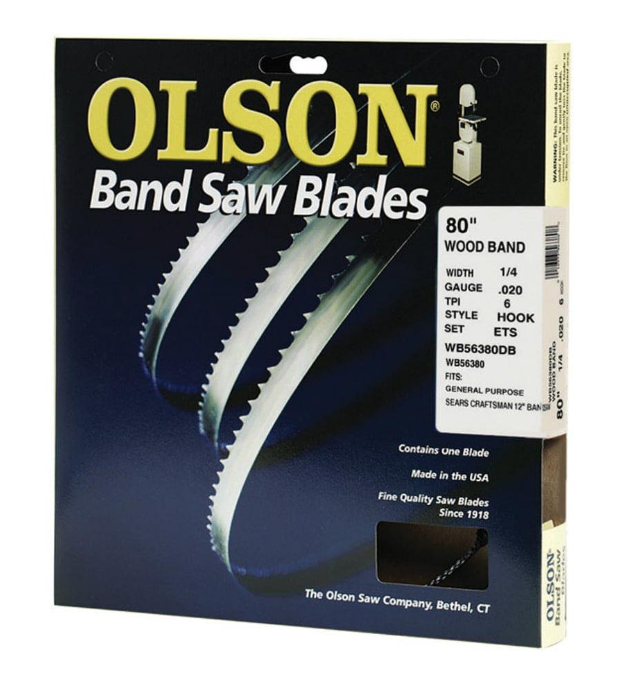 """Olson Saw 12580 Hook Wood Band, 80"""" x 1/4"""", 6TPI"""