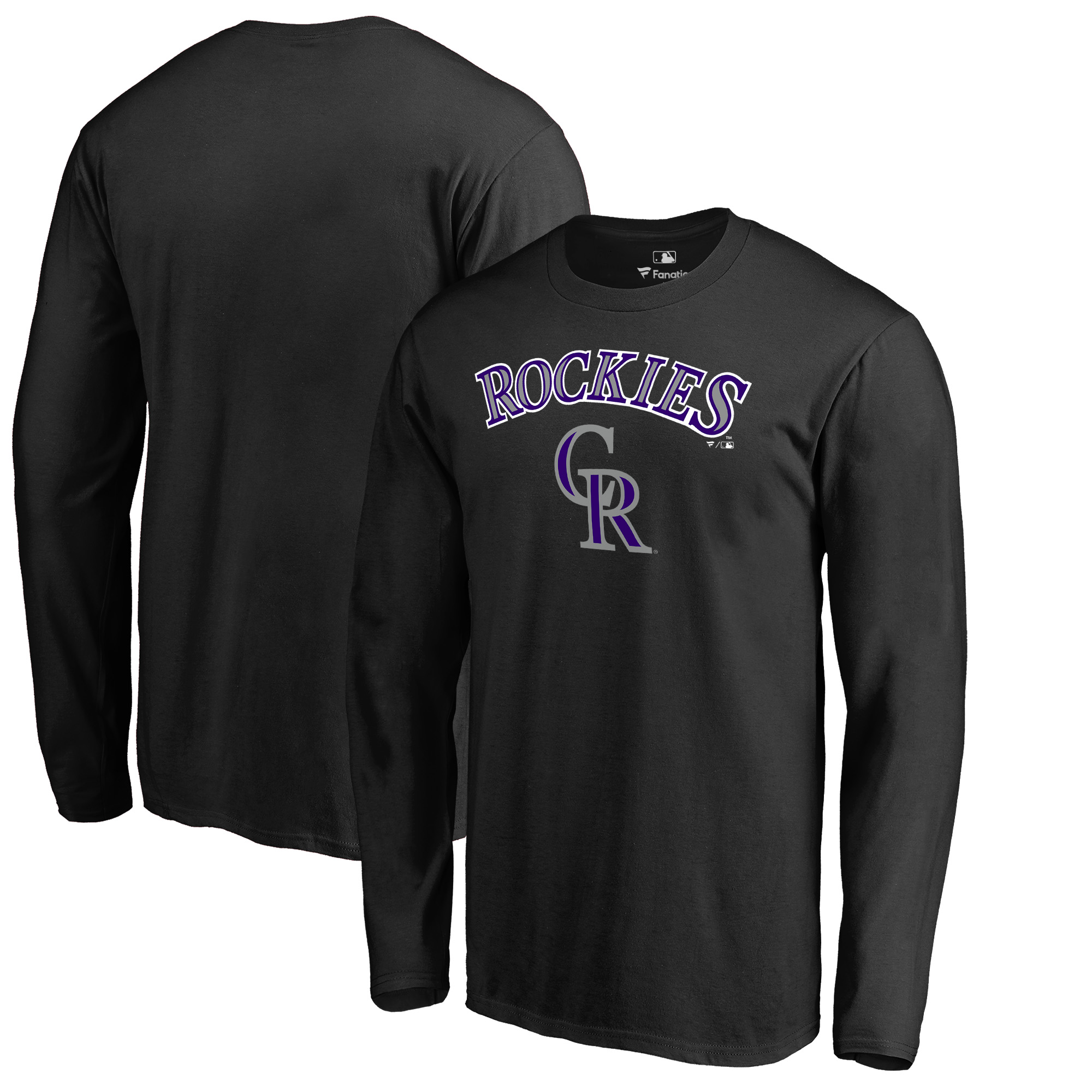 Colorado Rockies Fanatics Branded Team Lockup Long Sleeve T-Shirt - Black