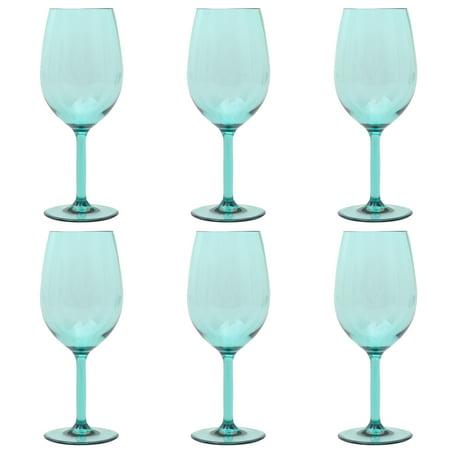 Mainstays 6-Piece Acrylic Stemmed Wine Set, (Acrylic Beverage Glass)