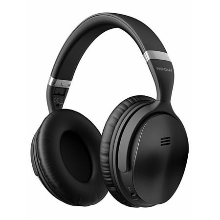 Mpow H5 [Gen-2] Active Noise Cancelling Headphones, Superior Deep Bass ANC Over Ear Wireless Bluetooth Headphones w/Mic, 30Hrs Playtime Comfortable Protein Earpads for PC/Cell Phone-Black (Deluxe Active Precision Bass)