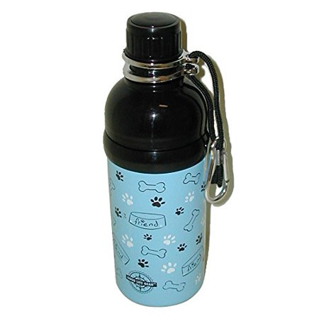 Good Life Gear Stainless Steel Pet Water Bottle, 16-Ounce, Blue Friends (Good Friends And A Bottle Of Pills)