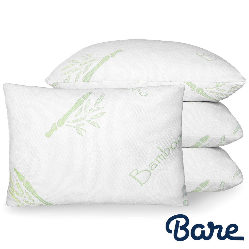 Premium Gel Fiber Pillow Bamboo Pillow Breathable Cool Washable Cover 2 Pack