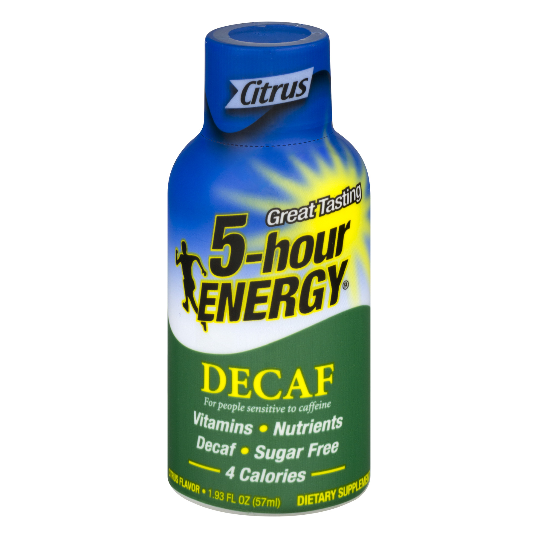 5-Hour Energy Decaf Dietary Supplement Citrus, 1.93 FL OZ