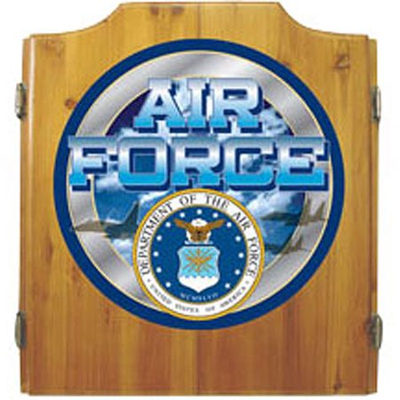 US Air Force Dart Cabinet with Darts and Board