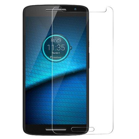 Droid Maxx 2 Tempered Glass, Nakedcellphone 9H Hard Clear Screen Protector Guard [Crack Saver] for Verizon Motorola Droid Maxx-2 (XT1565 XT1561 XT1562 XT1563) (aka Moto X