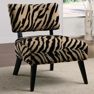 Oversized Microfiber Accent Chair in Zebra Tan Microfiber Accent Chair