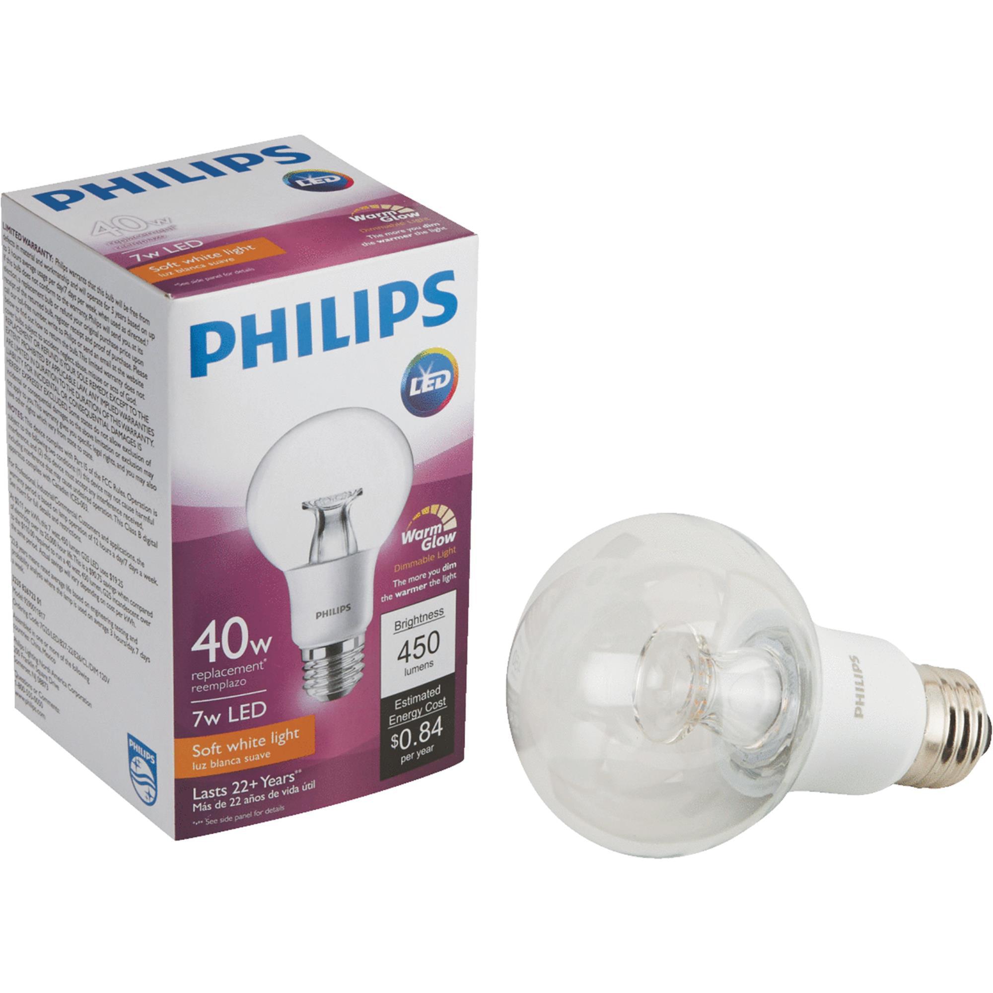 Philips Warm Glow G25 Medium Dimmable LED Decorative Globe Light Bulb